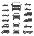 Delivery van Truck icon on white background vector image