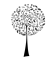 black stylized tree vector image vector image
