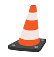 Road traffic orange cartoon cone vector image