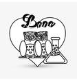 Love design romantic icon Colorful vector image