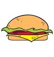 Hamburger symbol vector image vector image