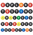 Texts on balls vector image vector image
