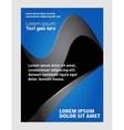 booklet catalog brochure folder vector image