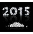 Brilliant text for the new year 2015 with diamonds vector image