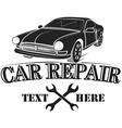 Car service logo template Automotive repair theme vector image