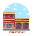 Fire station or department for firefighters vector image