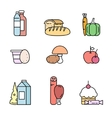 Food products from the store vector image