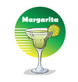 hand drawn of cocktail margarita vector image