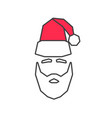 linear silhouette of santa claus vector image