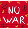 No war background vector image
