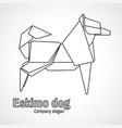 outline origami dog vector image