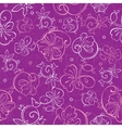 Purple Nature Swirls Seamless Pattern vector image