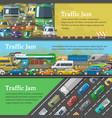 traffic road jam transportation problems vector image
