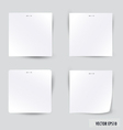 Collection of various white note papers vector image vector image