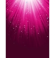 Stars are falling on purple luminous rays EPS 8 vector image vector image