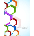 Background with colorful hexagons vector image vector image