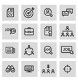line job search icons set vector image