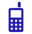 cell phone icon grunge watermark vector image
