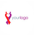 love couple logo vector image
