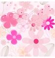 Flower vintage seamless background vector image