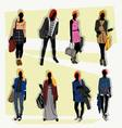 london fashion street vector image