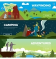 Banners of family andventure vector image