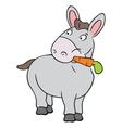 Cute donkey vector image vector image