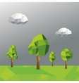tree and cloud icon Polygonal image vector image