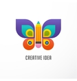 Education learning icon - butterfly and pencil vector image vector image