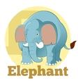 ABC Cartoon Elephant4 vector image