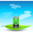 battery on leave vector image