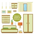 Element of the interior bedroom vector image