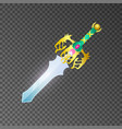 epic sword isolated game element vector image