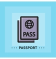 flat passport icon vector image