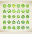 green mandala set vector image