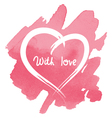 heart on abstract watercolor background vector image
