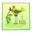 march eight greeting card vector image