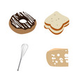 set of bakery icons vector image