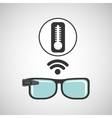 smart glasses connected thermometer temperature vector image