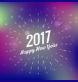Stylish 2017 happy new year design on colorful vector image