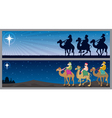three kings landscapes vector image