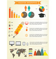 Education infographics design EPS 10 vector image