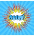 Comic boom wording vector image