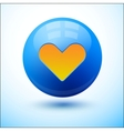 Heart on a blue bubble vector image vector image