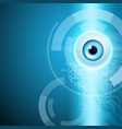 abstract background with eye and circuit vector image