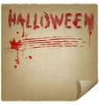 halloween scratched background vector image