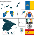 Map of Canary Islands vector image
