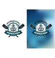 International Shipbuilders emblems or logos vector image