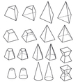 solid geometry vector image
