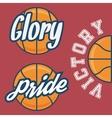 Set of Three Basketball Team Logo with Ball vector image